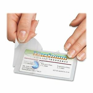 3 Mil Credit Card Laminating Pouches 2 63 X 3 85 Inches 500 Per Box