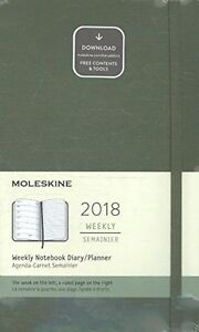 Moleskine 12 Month Weekly Planner Large Elm Green Hard Cover 5 X 8 25