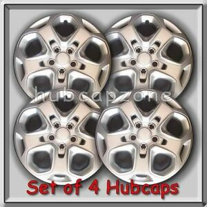2011 2012 17 Ford Fusion Replacement Silver Hubcaps Silver Wheel Covers Set 4