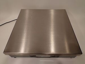 Commercial Stainless Steel Shipping Scale Weigh Tronix 7680 75 Max 150 Lbs Flat