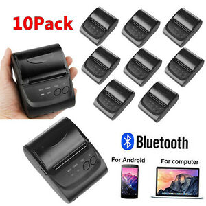 58mm Wireless Bluetooth Usb Thermal Receipt Printer Line Mobile Pos Android Lot
