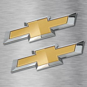 2 Chevy Bowtie Logo Stickers Vinyl Decals Vehicle Car Wall Laptop Chevrolet New
