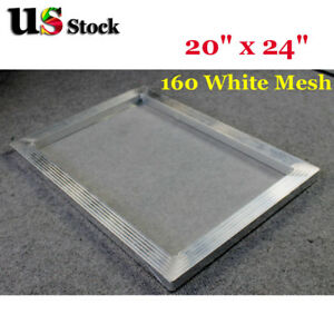 Us 6 Pcs 20 X 24 Aluminum Frame Printing Screens 160 Mesh For Screen Print