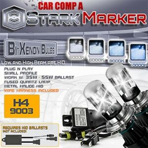 Stark 35w 55w Hid Bi Xenon Replacement Bulbs For Kit Dual Bulbs H4 Hb2 9003