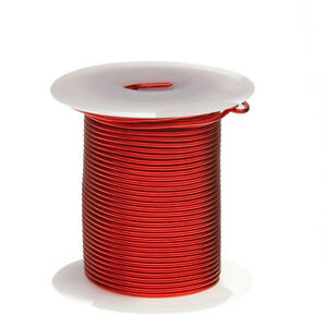 20 Awg Gauge Heavy Copper Magnet Wire 2 Oz 39 Length 0 0346 155c Red