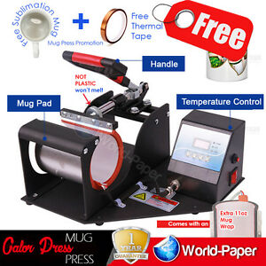 350w Digital Display Heat Press Transfer Sublimation Machine For Cup Mug V 3 0