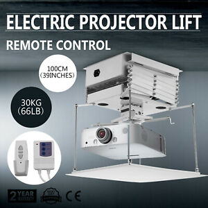 100cm Projector Bracket Motorized Electric Lift Projector Lift remote Control T