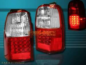 2001 2002 Toyota 4runner Red Led Tail Lights Pair New
