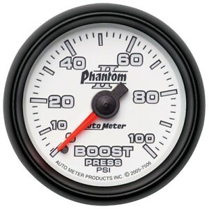 Auto Meter Phantom Ii 52 4mm Mechanical 0 100psi Boost Gauge