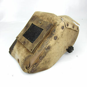 Vintage Welding Mask Shield Hood Helmet Cardboard Great Decoration Steampunk 12