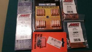 Chicago Electric Mig Welder Contact Tips And Asorted Parts Plus 9 Tungs Electrod
