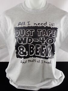 All I Need Is Duct Tape Beer Heat Press Transfer Design T shirt Sweatshirt Bag