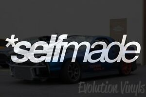 Selfmade V1 Decal Sticker Jdm Lowered Static Stance Low Drift Slammed Turbo