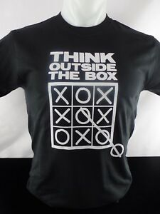 Think Outside The Box Heat Press Transfer Design T shirt Sweatshirt Bag Tote