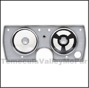 Dash Instrument Cluster Bezel For 1965 Plymouth Barracuda Valiant