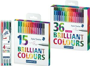Staedtler 334 Triplus Fineliner Pens A Selection Of Multi Packs Available