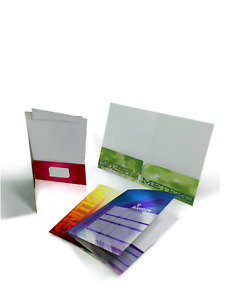 Printed Presentation Folders 500 Full Color 2 Pocket Custom High Quality 4c
