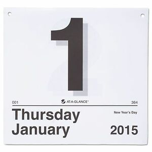 At a glance K4 50 today Is Daily Wall Calendar Refill 8 12 X 8 White 2018