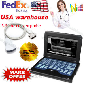 Full Digital B ultrasound Diagnostic System Scanner Notebook 3 5mhz Convex Probe