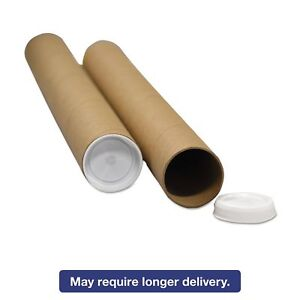 General Supply Rrtk212 Round Mailing Tubes 12l X 2 Dia Brown Kraft 25 pack