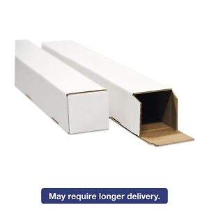 General Supply Stw4437 Square Mailing Tubes 37l X 4w X 4h White 25 pack