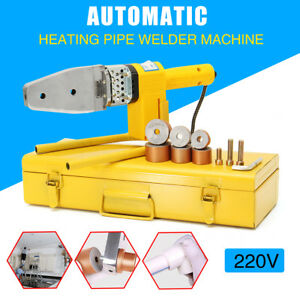 Automatic Electric Heating Ppr Pe Pp Tube Pipe Welding Machine Heads Stand box