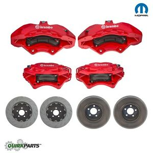 11 18 Challenger Charger 300 Srt 8 Scat Pack Brembo Brake Upgrade Kit Oem Mopar