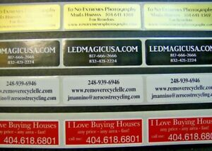 Printed Labels 1 000 Custom Rectangle 3 4 X 2 Business Stickers 1 Color Seals