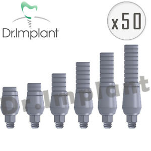 50 Straight Abutment 4 6mm Dental Implant Comp With Alpha Bio Biohorizons