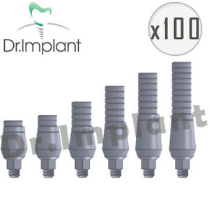 100 Straight Abutment 4 6mm Dental Implant Comp With Alpha Bio Biohorizons