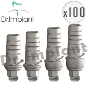 100 Straight Abutment Anatomic Dental Implant Comp With Alpha Bio Biohorizons
