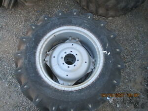 14 9 13x28 Alliance Tractor Tire W Rim And Disc For Farmall