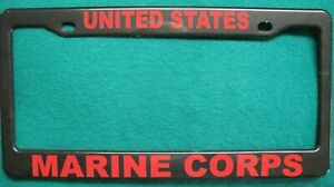 License Plate Frame United States Marine Corps Polished Abs 3376r