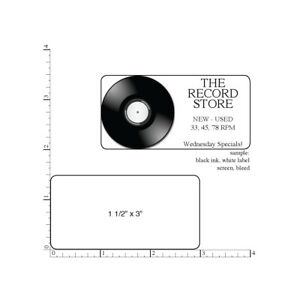 1 000 Printed Labels Rectangle 1 1 2 X 3 Custom Business Stickers 1 color Ink