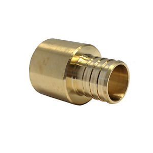 Libra Supply 3 4 X 1 Inch Pex To Copper Brass Adapter Barb To Sweat 10 Pcs