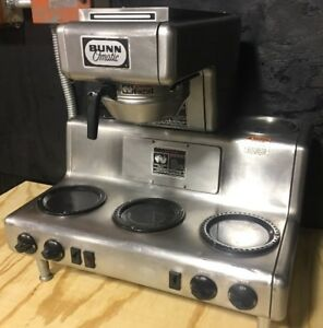 Bunn o matic Automatic Coffee Brewer 5 Warmers Commercial Restaurant