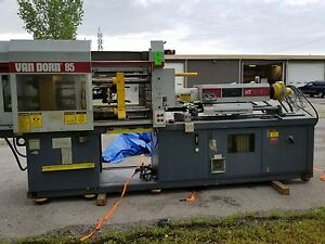 Van Dorn 85 Ton Injection Molding Machine 85 rs 8fht Used