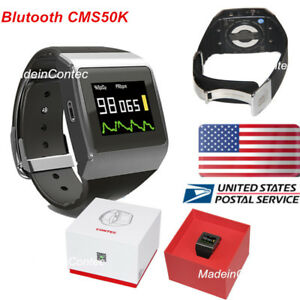 Bluetooth Oled Wrist Pulse Oximeter Spo2 ecg Pedometer Monitor Smart Watch Fda