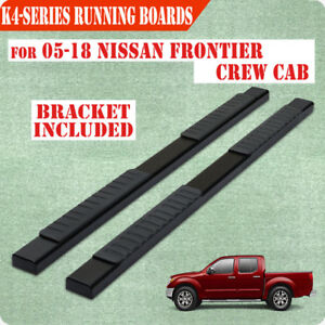 For 2005 2020 Nissan Frontier Crew Cab 4 Blk Nerf Bar Running Board Side Step H