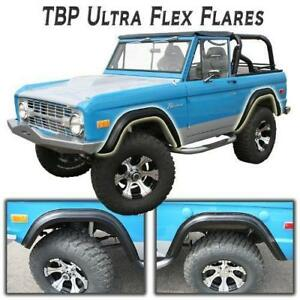 1966 1977 Early Ford Bronco Tbp Ultraflex Fender Flares Set Of 4 Blemished