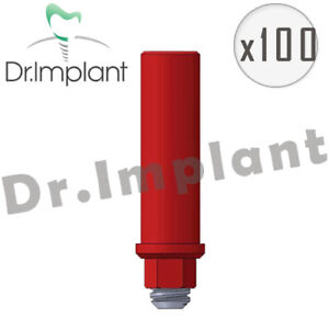 100 Plastic Abutment With Hex Dental Implant Comp With Alpha Bio Biohorizons