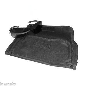 Sunglasses Holder With Pouch Attaches To Roll Bar Black For Jeep Wrangler