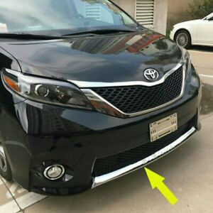 For Toyota Sienna 2013 2017 Se Model Chrome Front Bumper Protector Cover Trim