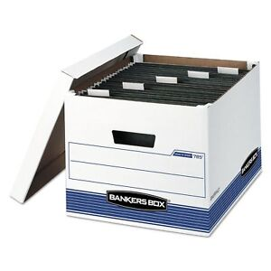 Bankers Box 00785 Hang n stor Storage Box Legal letter Lift off Lid