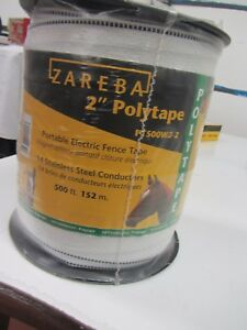 Zareba 2 Polytape Portable 2 Roll Electric Fence Tape Model Pt5002 z