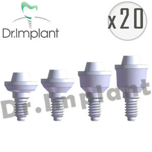 20 Straight Multi Unit Abutments Dental Implant Co With Alpha Bio Biohorizons