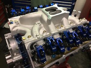351w 427 Small Block Ford Long Block Edelbrock Clevand Boss Heads With Pan Tc
