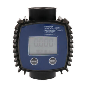 Magideal Electronic Digital Fuel Flow Meter By Machine Oil Chemical Liquid