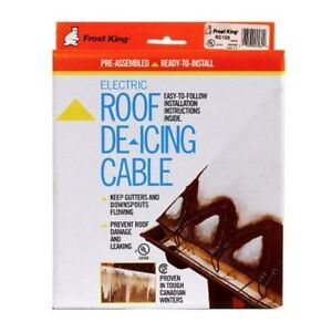 Frost King Rc100 Electric Roof De icing Cable With Shingle Clips 100