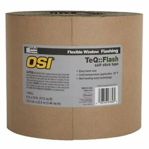Osi 1866211 Window Flashing Tape 6 X 100 39 Black